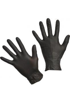 Перчатки медицинские смотровые нитриловые S&C текстурированные нестерильные неопудренные черные размер M (2шт. 1-пара )