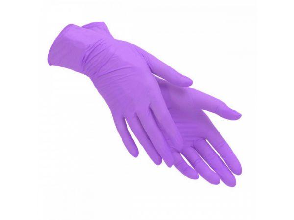 Перчатки медицинские смотровые нитриловые S&C текстурированные нестерильные неопудренные фиолетовые размер L (2-шт 1-пара)