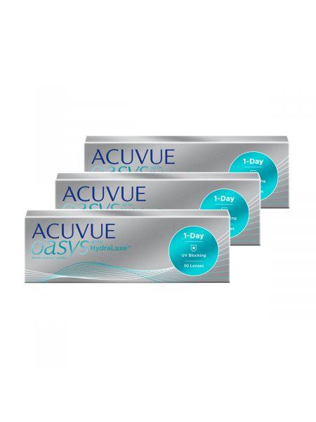 Контактные линзы ACUVUE® OASYS 1-Day с технологией HydraLuxe® 90 штук