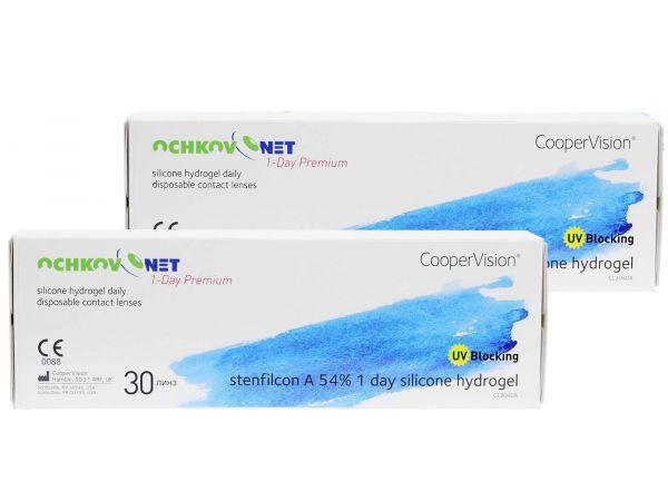Контактные линзы Ochkov.Net 1-Day Premium 60 линз (30 пар)