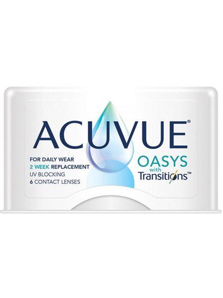 контактные линзы Acuvue Oasys with Transitions 6 линз (3 пары)