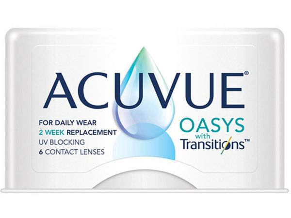 контактные линзы Acuvue Oasys with Transitions 6 линз (3 пары)