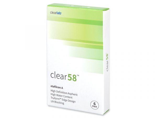 Контактные линзы Clear 58 6 линз (3 пары)