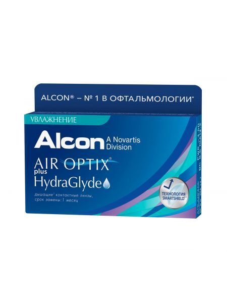 Контактные линзы Air Optix plus HydraGlyde 6 линзы