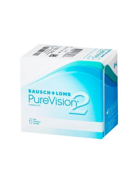 Контактные линзы PureVision 2 HD 6 линз (3 пары)