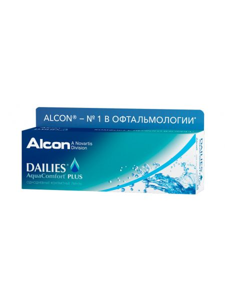 Контактные линзы Dailies AquaComfort Plus 30 линз (15 пар)