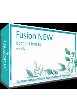 (МЯТАЯ УПАКОВКА) Контактные линзы Fusion NEW 6 линз (3 пары) (ОПТИЧЕСКАЯ СИЛА 8,6 -5,50)