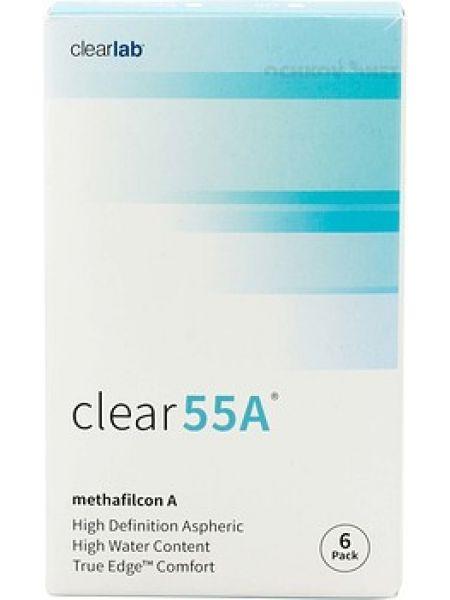 Контактные линзы Clear 55A 6 линз (3 пары)