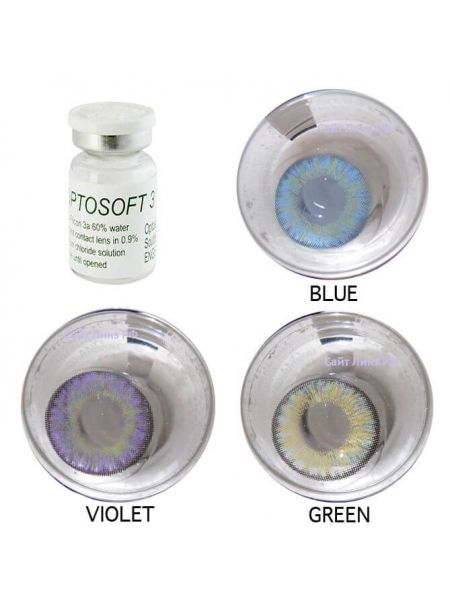 Цветные линзы Optosoft 3 1 линза