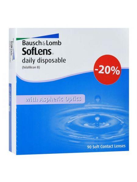 Контактные линзы SofLens Daily Disposable 90 линз