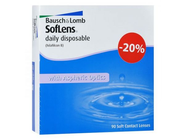 Контактные линзы SofLens Daily Disposable 90 линз (45 пар)