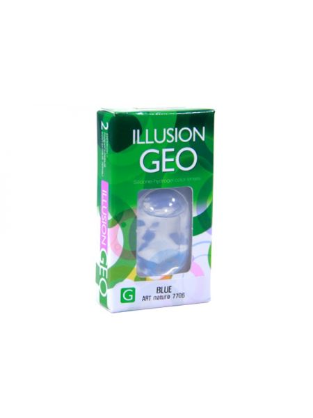 Цветные линзы Illusion Geo Nature 2 линзы (1 пара)