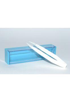Пинцет маленький белый в синем футляре 6 см PC-871-К