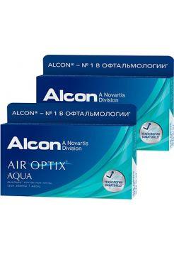 Контактные линзы Air Optix Aqua 12 линз (2 упаковки по 6 линз)