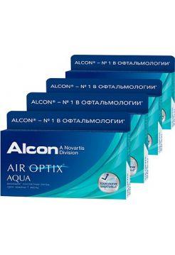 Контактные линзы Air Optix Aqua 24 линзы (4 упаковки по 6 линз)