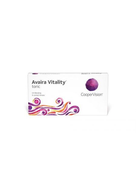 Контактные линзы Avaira Vitality Toric 6 линз (3 пары)