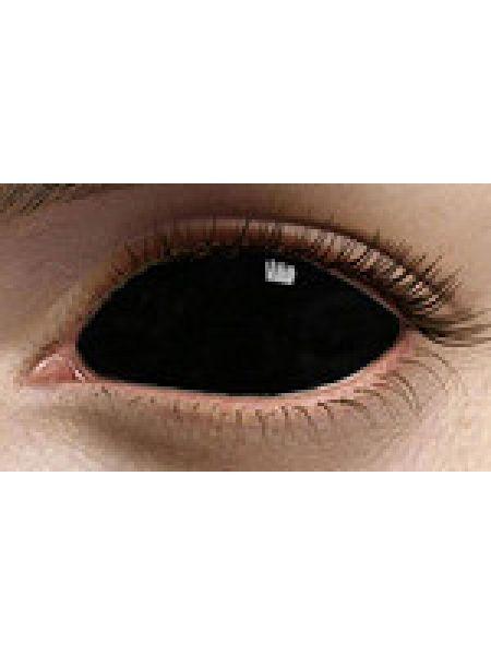 Карнавальные линзы Black Sclera Black (Черная) 1линза во флаконе