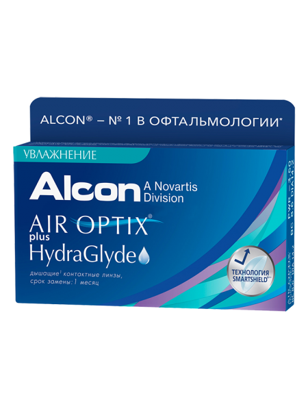 Контактные линзы Air Optix plus HydraGlyde 3 линзы