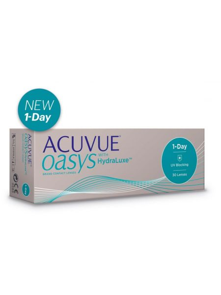 Контактные линзы ACUVUE OASYS 1-Day with HydraLuxe™ 30 линз (15 пар)