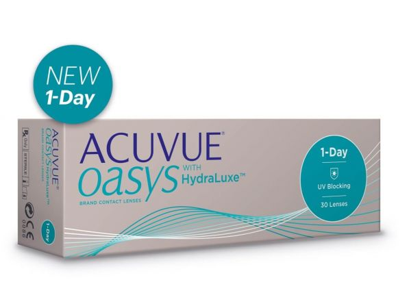 Контактные линзы ACUVUE OASYS 1-Day with HydraLuxe 30 линз (15 пар)