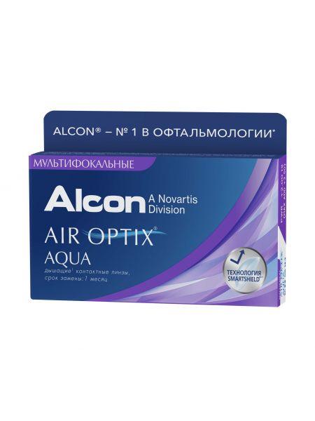 (МЯТАЯ УПАКОВКА) Контактные линзы Air Optix Aqua Multifocal (3 линзы)
