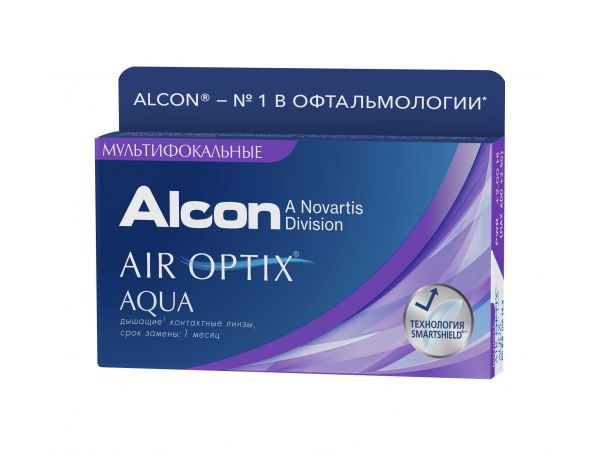 Контактные линзы Air Optix Aqua Multifocal (3 линзы)