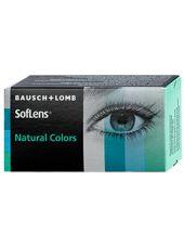 (МЯТАЯ УПАКОВКА) Цветные линзы SofLens Natural Colors 2 линзы (Оптическая сила топаз 1-шт -1,5  1-шт-2 0 , индиго 1-шт-2,0)