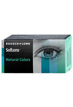 (МЯТАЯ УПАКОВКА) Цветные линзы SofLens Natural Colors 2 линзы (Оптическая сила Topaz 8.7 -1.5)