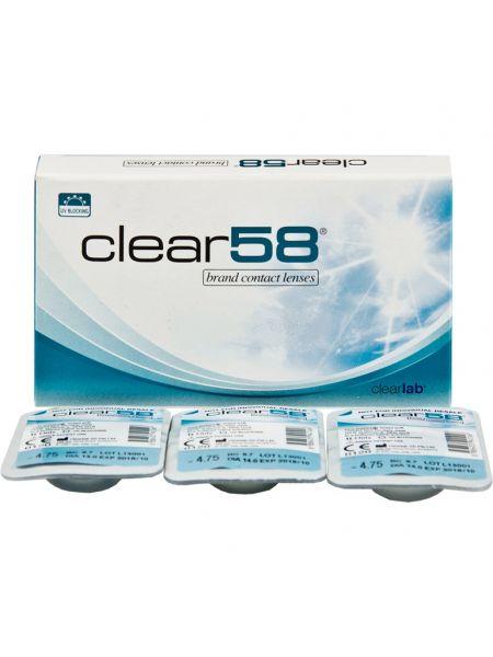 Контактные линзы Clear 58 6 шт.