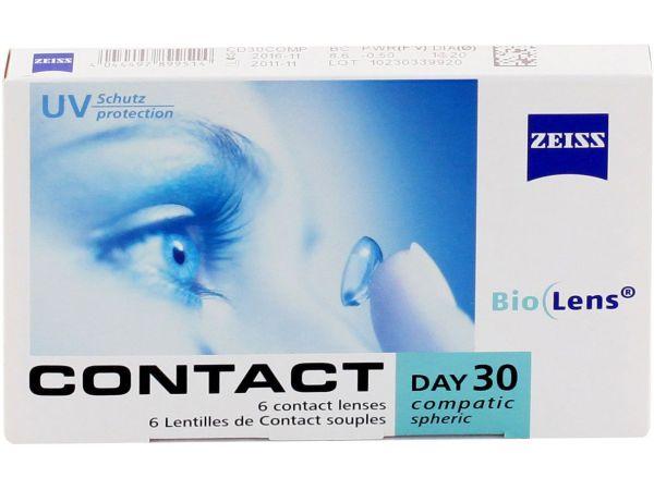 Торические линзы Contact Day 30 Compatic Toric 6 линз (3 пары)