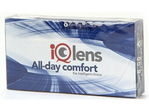 Контактные линзы IQLens All-day comfort 6 линз (3 пары)