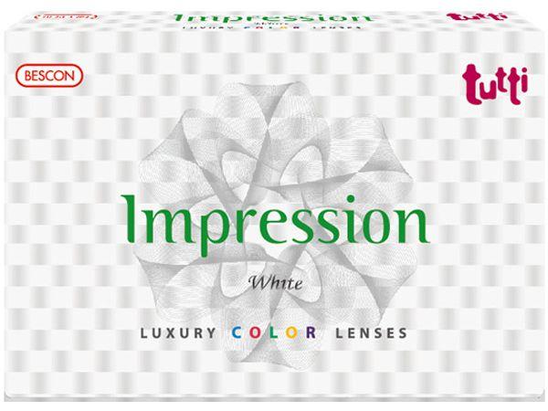 Цветные линзы Tutti Impression White 2 линзы (1 пара)
