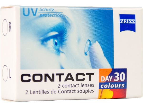 Цветные линзы Contact day 30 colors Tri-tone 2 линзы (1 пара)