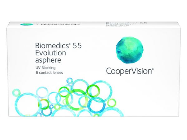 Контактные линзы Biomedics 55 Evolution UV 6 линз (3 пары)