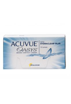 контактные линзы Acuvue Oasys with Hydraclear Plus 12 линз (6 пар)