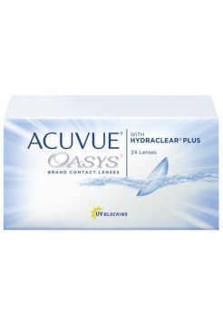 Контактные линзы Acuvue Oasys with Hydraclear Plus 24 линзы (12 пар)