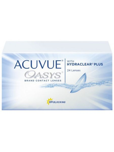 Контактные линзы Acuvue Oasys with Hydraclear Plus 24 линзы