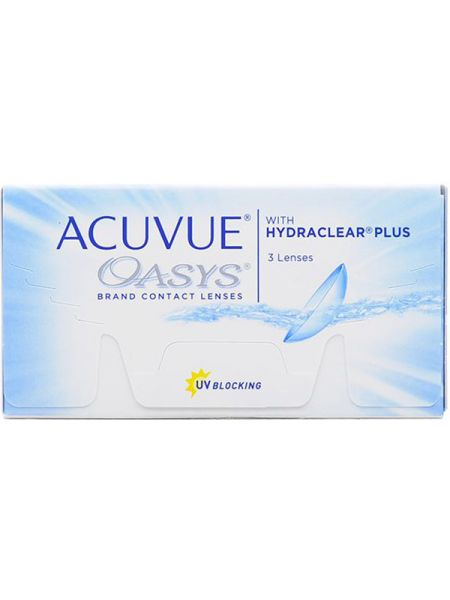 Контактные линзы Acuvue Oasys with Hydraclear Plus (3 линзы)