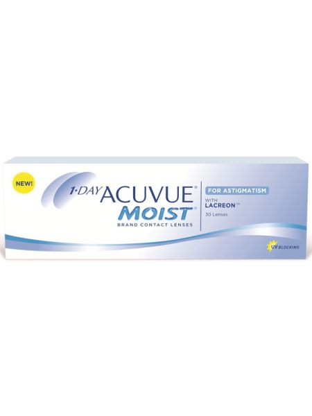Торические линзы 1-Day Acuvue Moist for Astigmatism 30 линз (15 пар)
