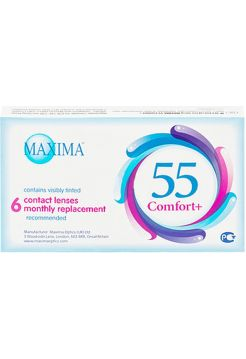 Контактные линзы Maxima 55 Comfort Plus 6 линз (3 пары)