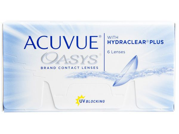 Контактные линзы Acuvue Oasys with Hydraclear Plus 6 линз