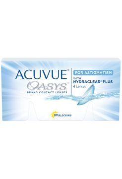 (МЯТАЯ УПАКОВКА) Торические линзы Acuvue Oasys for Astigmatism 6 линз (3 пары)