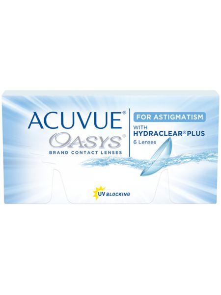Торические линзы Acuvue Oasys for Astigmatism 6 линз (3 пары)