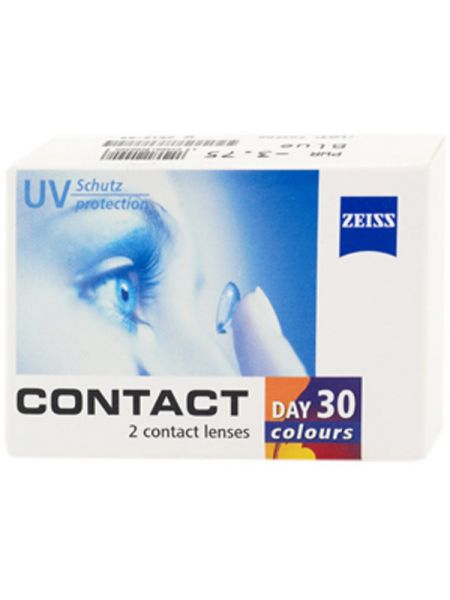Цветные линзы Contact day 30 colors One-tone 30 colors 2 линзы (1 пара)
