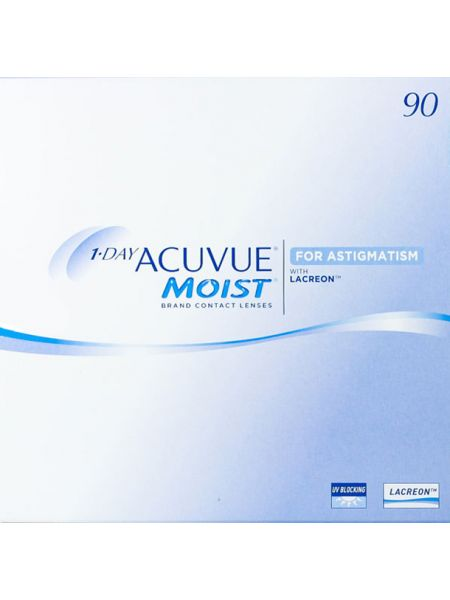 Торические линзы 1-Day Acuvue Moist for Astigmatism 90 линз (45 пар)