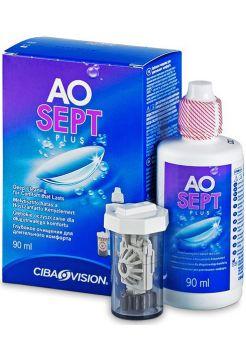 Раствор Aosept Plus 90 мл + контейнер с АОдиском
