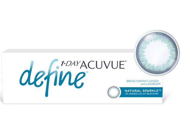 Контактные линзы 1-Day Acuvue Define Естественный блеск (Natural Sparkle) 30 линз (15 пар)