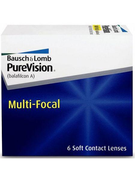 (МЯТАЯ УПАКОВКА) Контактные линзы PureVision Multifocal 6 линз (3 пары)