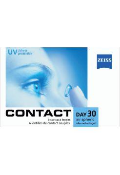 Контактные линзы Contact Day 30 Air Spheric 6 линз (3 пары)